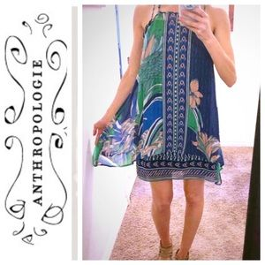 Anthropologie Layered Silk Dress